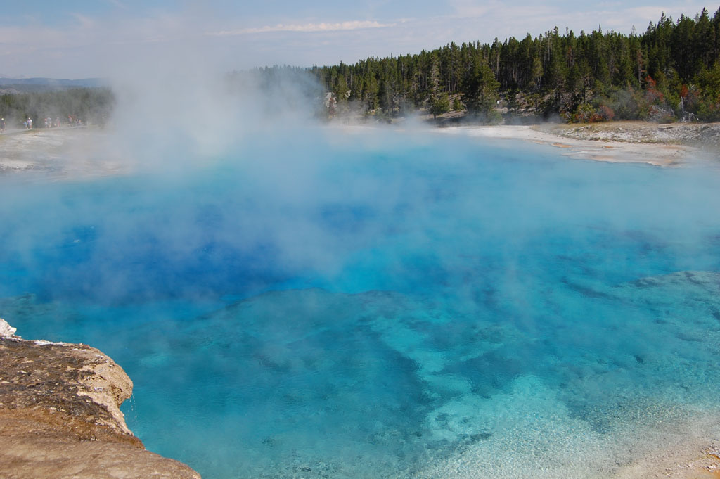 Hot spring in the crater formed by the Excelsior geyser