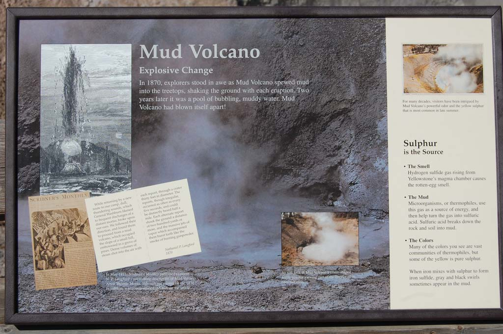 Information about Mud Volcano in Yellowstone National Park