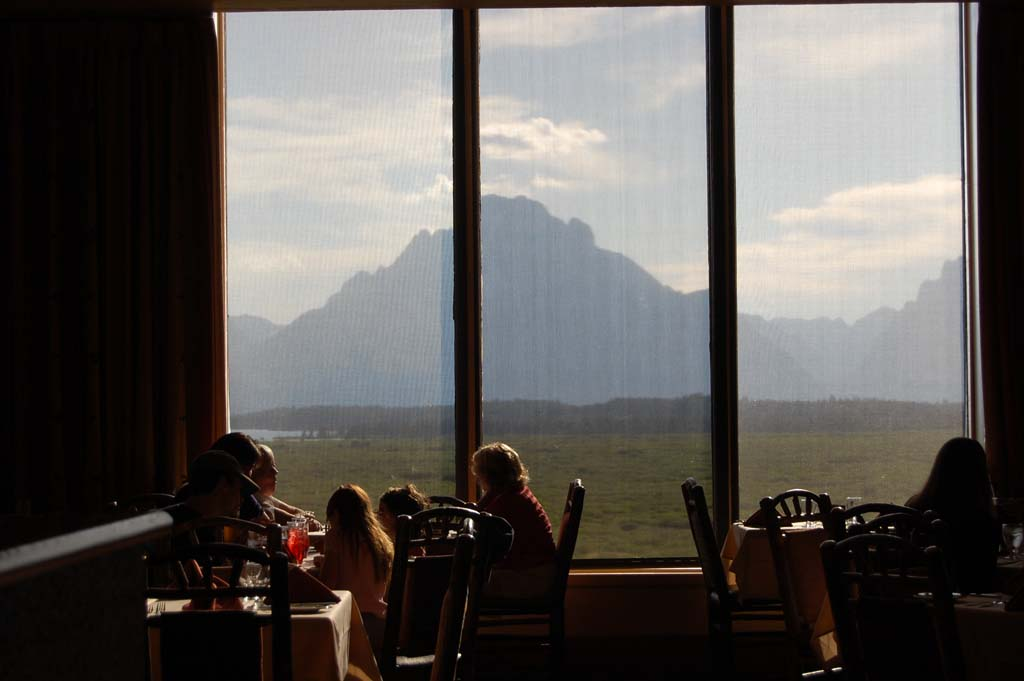 View from the Mural Room at the Jackson Lake Lodge in the Grand Teton National Park