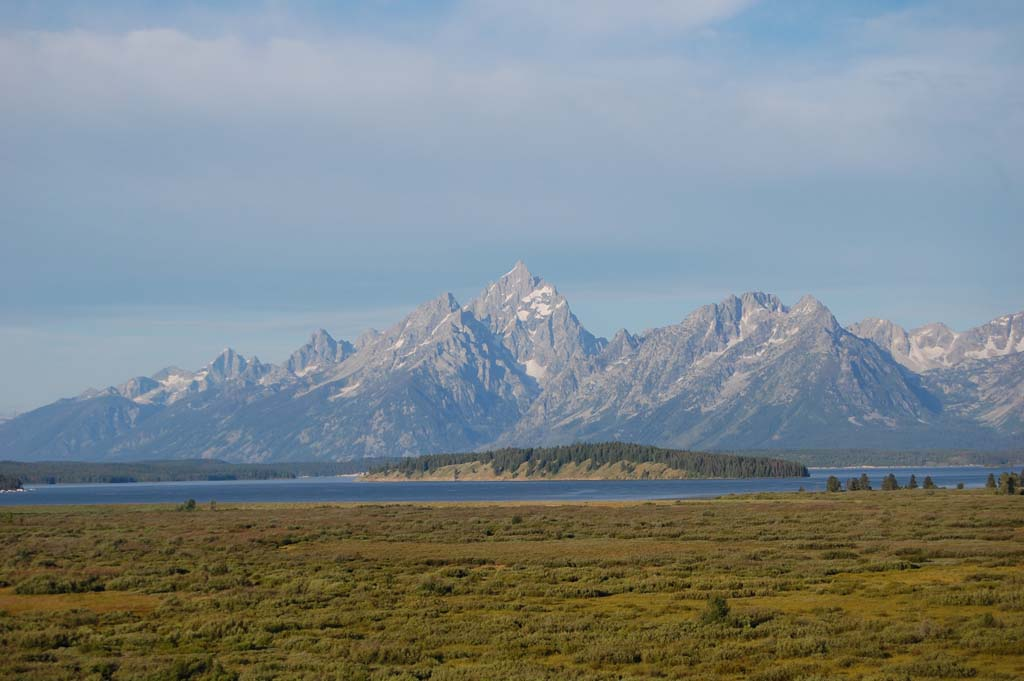 View from the Jackson Lake Lodge in the Grand Teton National Park