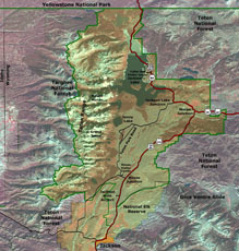 map of Grand Tetons National Park